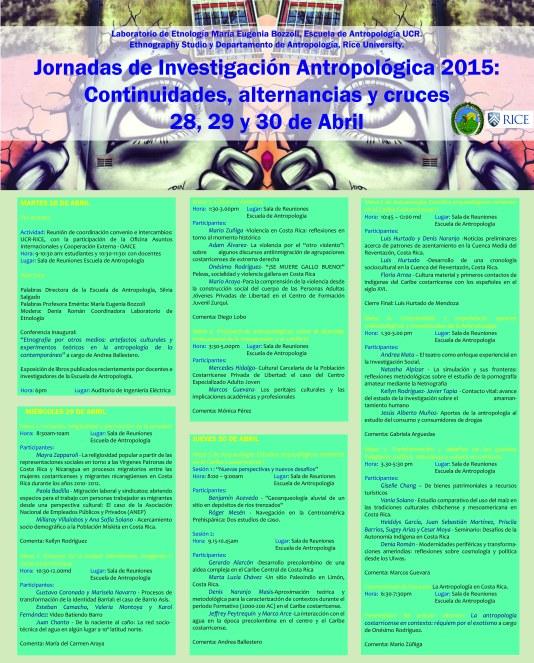Programación Jornada Antropologicas 28,29 30 abril